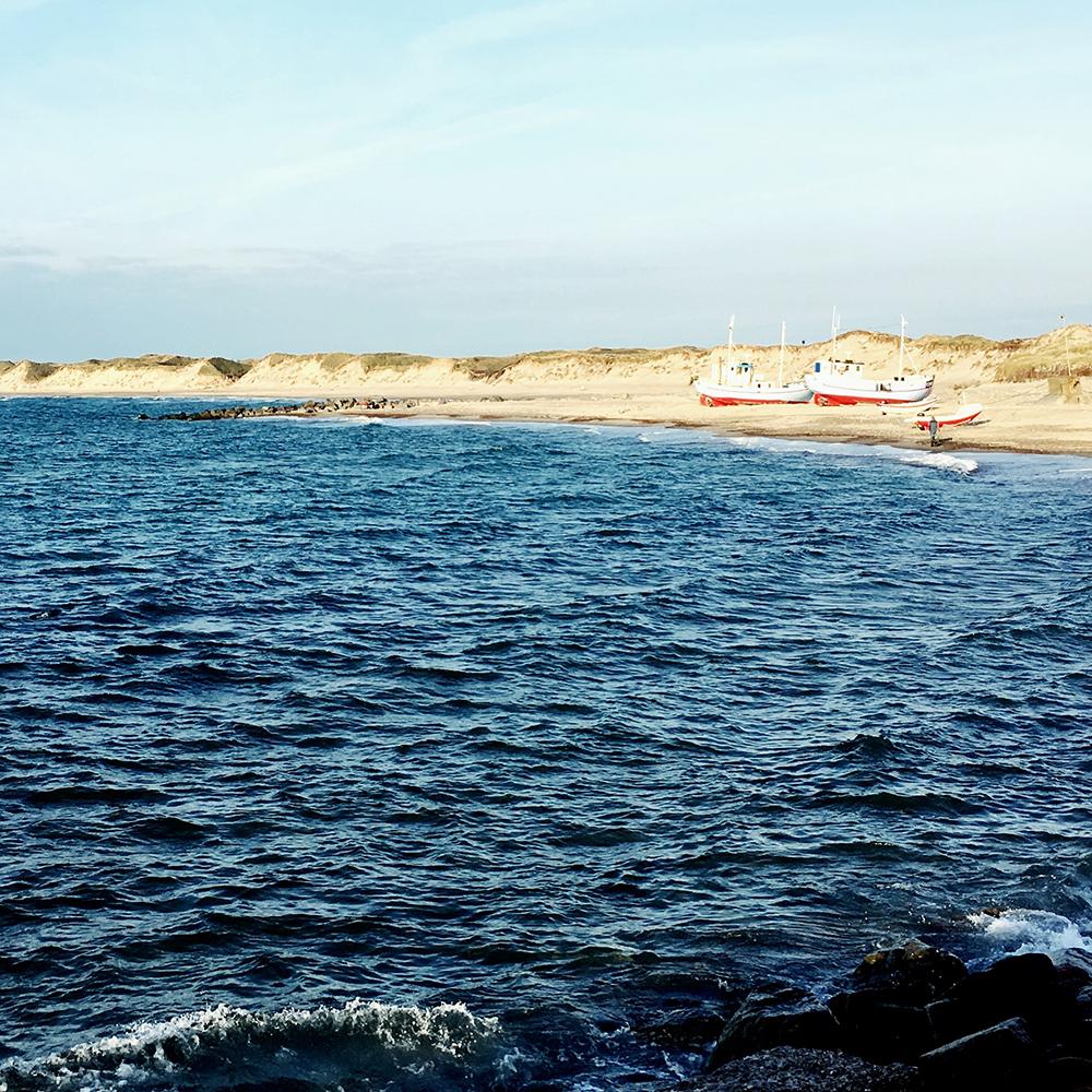 Vissersbootjes in Nørre Vorupør
