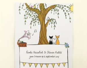 Trouwkaart Steven & Femke